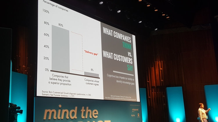 Graph showing difference between audience and business